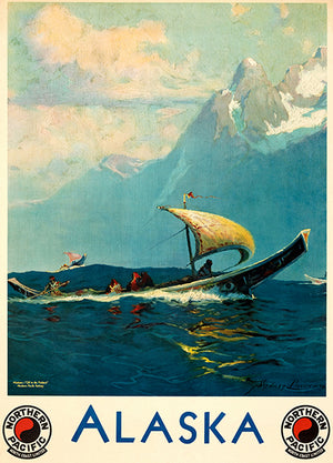 Alaska - Northern Pacific Railway - 1924 - Travel Poster