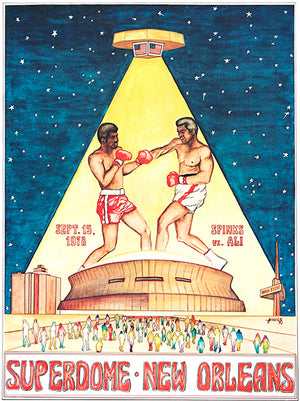 Ali - Spinks - 1978 - Superdome - New Orleans LA - Promotional Advertising Poster