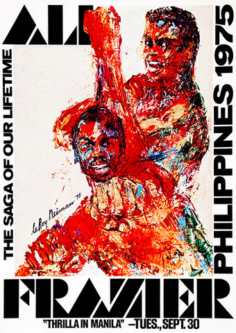 Ali - Frazier - Thrilla In Manila - Philippines - 1975 - Fight Promotion Poster