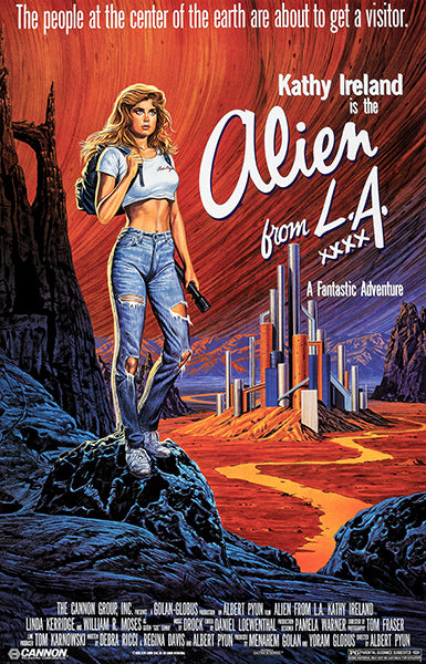 Alien From LA - 1988 - Movie Poster