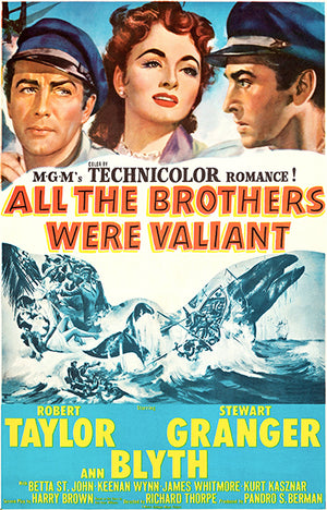 All The Brothers Were Valiant - 1953 - Movie Poster