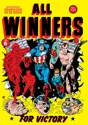 All Winners - #6 - Fall 1941 - Comic Book Cover Poster