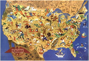 America - It's Folklore - 1946 - USA Pictorial Map Poster