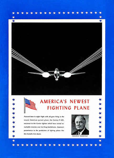 America's Fighting Plane - Curtiss P-40F - 1941 - World War II - Propaganda Magnet
