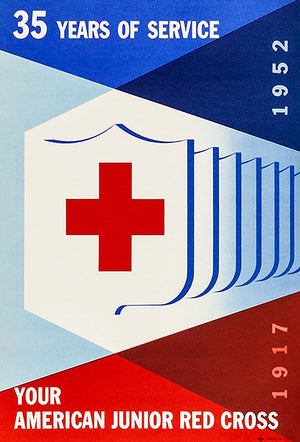 American Junior Red Cross - 35 Years Of Service - 1952 - Advertising Poster