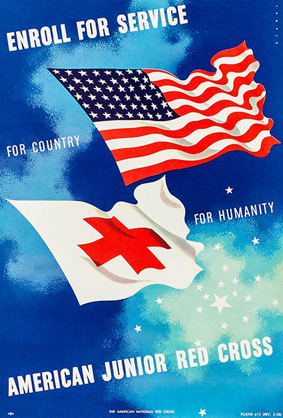 American Junior Red Cross - Enlist For Service - 1958 - Recruitment Poster