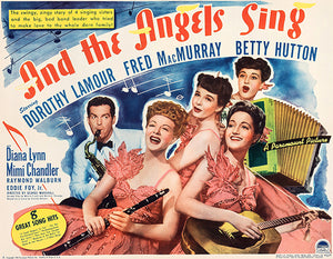 And The Angels Sing - 1944 - Movie Poster