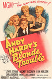 Andy Hardy's Blonde Trouble - 1944 - Movie Poster