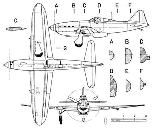 Arsenal VG-33 - Blueprint Magnet