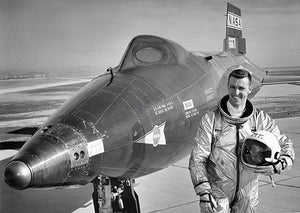 Astronaut Joe Engle & The North American X-15A-2 - Photo Magnet
