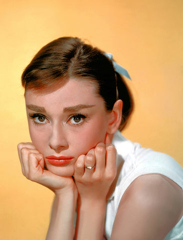 Audrey Hepburn - Movie Star Portrait Poster