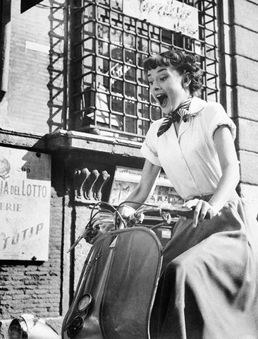 Audrey Hepburn - Roman Holiday - Movie Still Poster