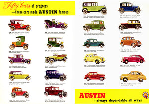 Austin Evolution - 1906-1952 - Promotional Advertising Magnet
