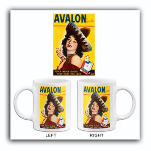 Avalon Cigarettes - 1940 - Promotional Advertising Mug