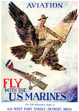 Aviation Fly With The US Marines - 1919 - World War I - Recruitment Poster