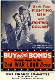 Back Your Fighting Men With Fighting Dollars - 1943 - World War II - Propaganda Poster