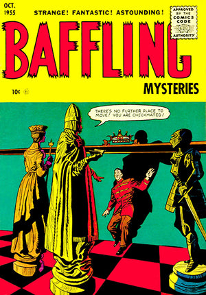 Baffling Mysteries - October 1955 - Comic Book Cover Poster