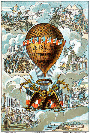 Balloon - Coronation Of Napoleon Bonaparte - Notre Dame - 1804 - Aviation Poster