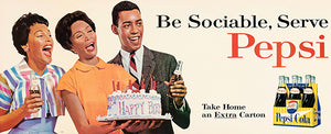 Be Sociable, Serve Pepsi - 1964 - Promotional Advertising Magnet