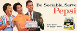 Be Sociable, Serve Pepsi - 1964 - Promotional Advertising Poster
