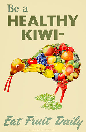 Be A Healthy Kiwi - Eat Fruits - 1945 - Advertising Mug