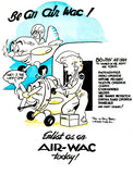 Be An Air WAC - 1940's - World War II - Recruitment Mug