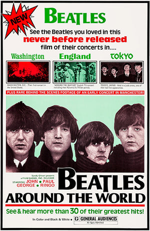 Beatles Around The World - 1970 - Movie Poster Magnet