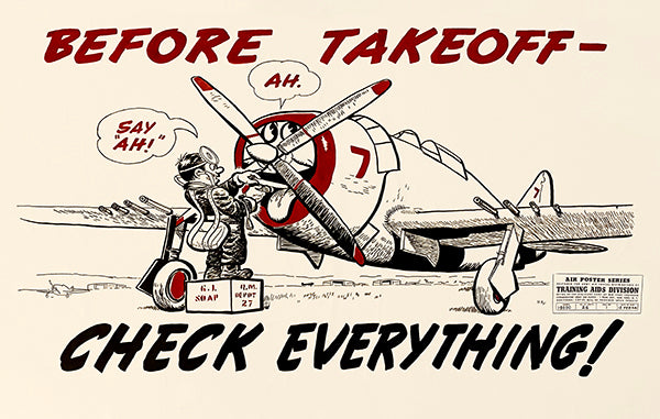 Before Take Off - 1944 - Training Aids Aviation Magnet