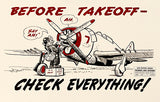 Before Take Off - 1944 - Training Aids Aviation Poster