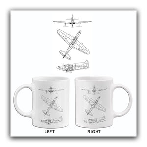 Bell P-63 Kingcobra - Blueprint Mug