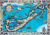 Bermuda Islands - Ships Atlantic Ocean - 1930 - Pictorial Map Poster