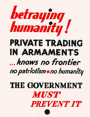 Betraying Humanity - Prevent It - 1930's - Propaganda Poster