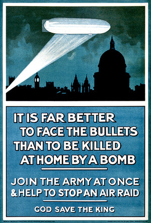 Better To Face The Bullets - 1915 - World War I - British Propaganda Poster