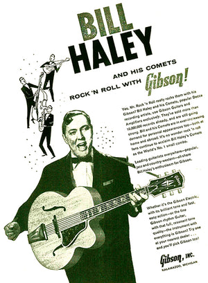 Bill Haley - Gibson Super 400 Guitar - 1957 - Promotional Advertising Poster