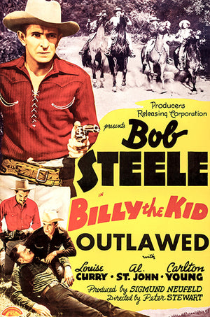 Billy The Kid Outlawed - 1940 - Movie Poster