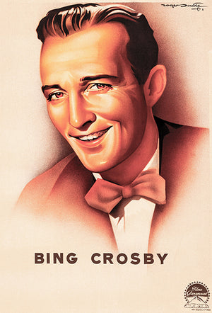 Bing Crosby - 1944 - Movie Star Illustration Poster