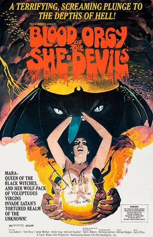Blood Orgy Of The She Devils - 1972 - Movie Poster