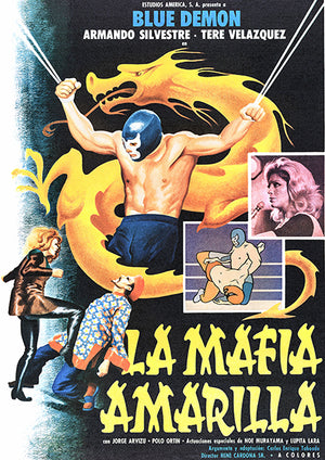 Blue Demon vs The Yellow Mafia - 1975 - Movie Poster