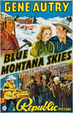 Blue Montana Skies - 1939 - Movie Poster