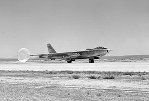 Boeing B-47A Stratojet Landing With Drag Chute - 1953 - Photo Magnet