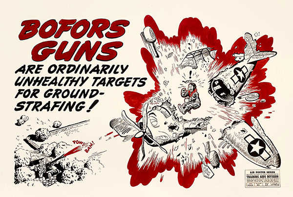Bofors Guns - 1944 - Training Aids Aviation Poster