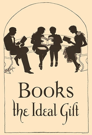 Books, The Ideal Gift - 1920 - Reading Motivational Magnet