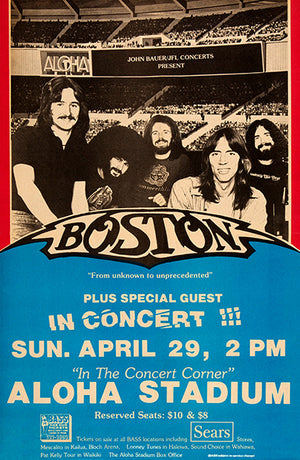 Boston - 1979 - Honolulu HI - Concert Poster