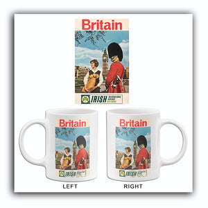 Britain - Irish International Airlines - Aer Lingus - 1960's - Travel Poster Mug