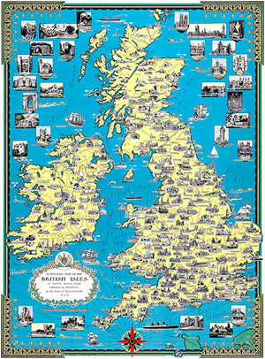 British Isles - 1939 - Pictorial Map Poster