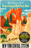 Bryce Canyon National Park, Utah - New York Central System - 1930's - Travel Poster