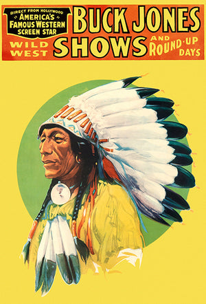 Buck Jones Wild West Shows - 1929 - Promotional Advertising Poster