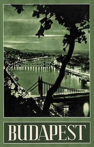 Budapest - Hungary - 1930's - Travel Poster
