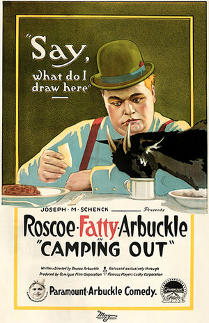 Camping Out - Fatty Arbuckle - 1919 - Movie Poster