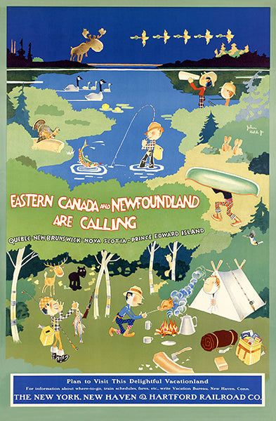 Canada & Newfoundland - Hartford Railroad Company - 1926 - Travel Poster